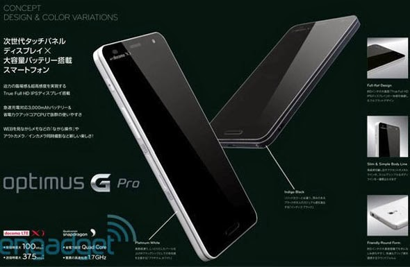 Smartphone LG Optimus G Pro OS Android