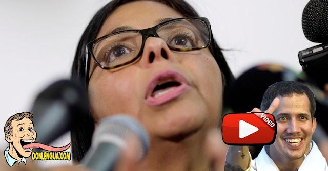 Delcy la Fea amenaza con acabar con la carrera de Guaidó el próximo 6 de diciembre