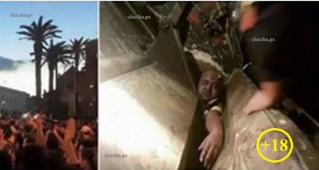 شاهد كيف تم طحن رجل امام حشد من الناس في ابشع جريمة هزت المغرب! تم هرسه و طحنه وسط الحضور في شاحنة النفايات!  *تحذير: الفيديو يحتوي على مشاهد قاسية
