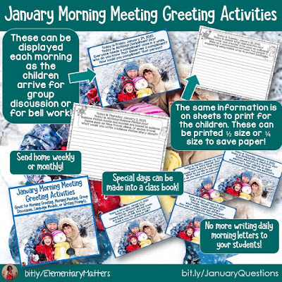 https://www.teacherspayteachers.com/Product/January-Morning-Meeting-Greeting-Activities-4255779?utm_source=blog%20post&utm_campaign=January%20Calendar%20Questions