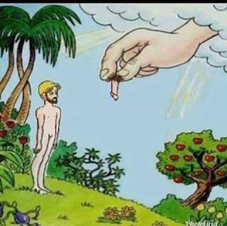 Chiste feminista de Adán y Eva