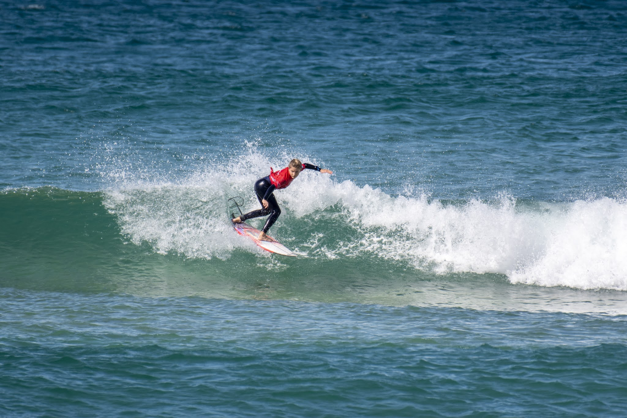 Lucy Darragh (Gerringong) took out the win for the under 12 girls division at the 2020 Havaianas NSW Grommet State Titles.