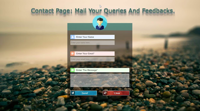 design an attractive contact page