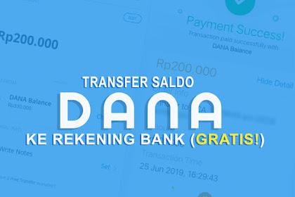 Cara Transfer Saldo DANA Ke Rekening Bank (GRATIS!)