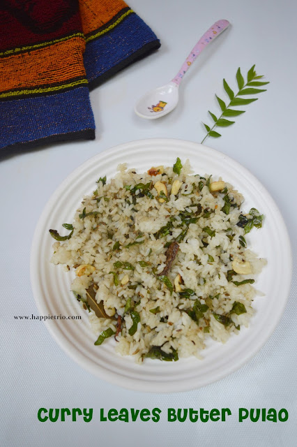 Curry Leaves Butter Pulao Recipe  | Easy Lunch Box Recipes