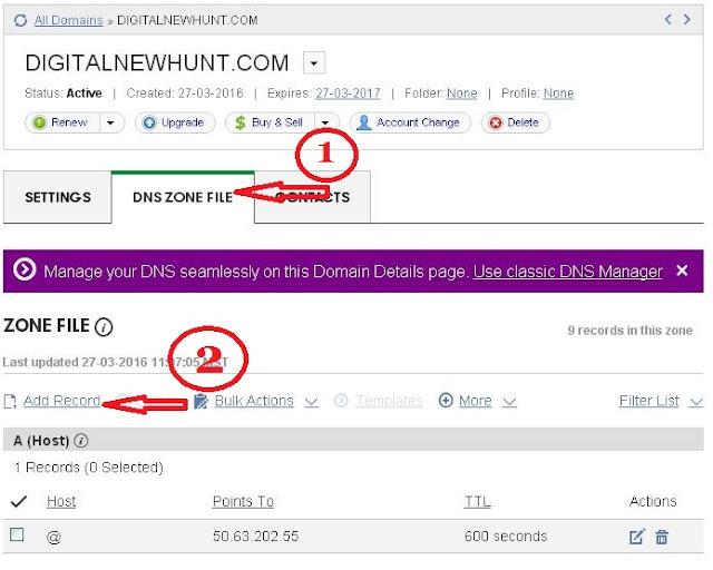 change domain name blogger blog