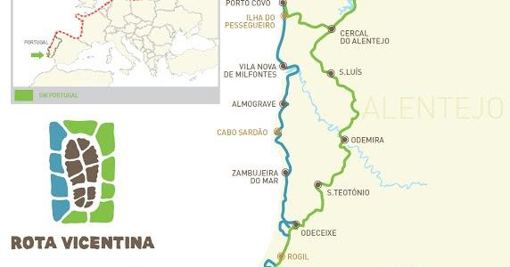 mapa da rota vicentina Casa do Benfica em Almada: GR11/09   Rota Vicentina mapa da rota vicentina