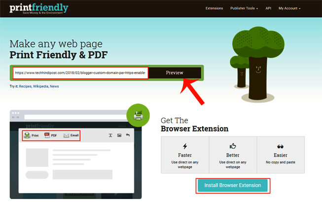 How To Print Webpages Without Ads using extensions