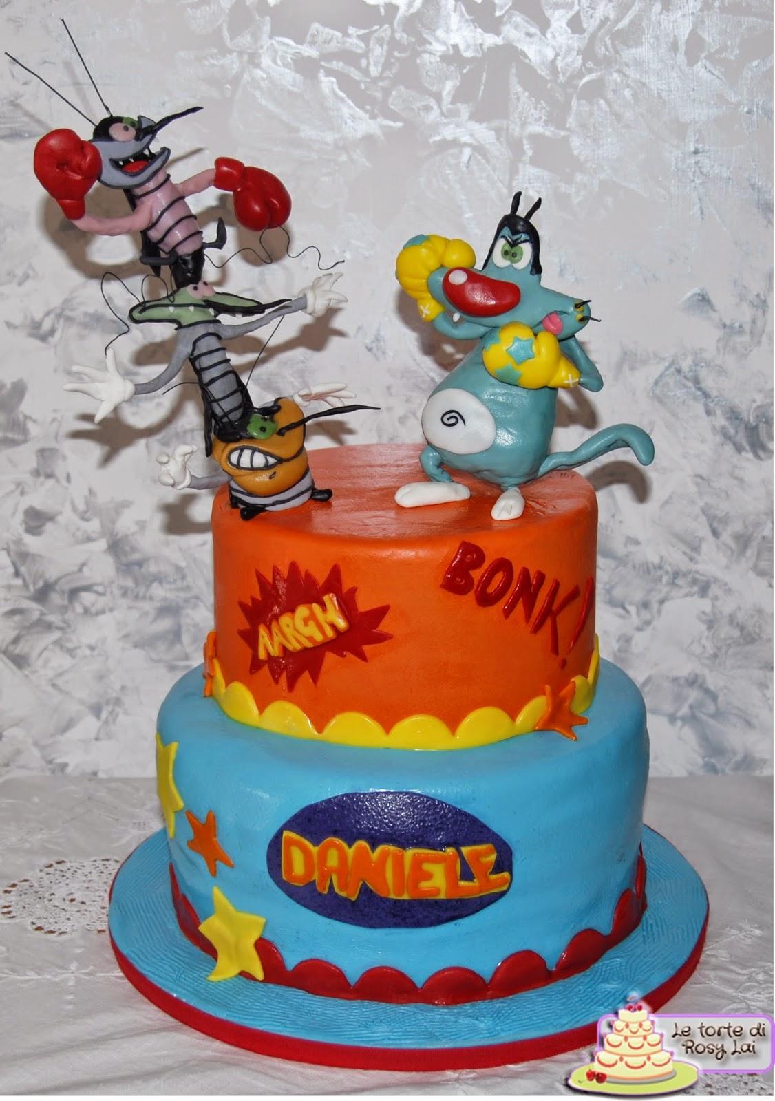 Torta Compleanno Oggy E I Maledetti Scarafaggi.Le Torte Di Rosy Lai Oggy E I Maledetti Scarafaggi