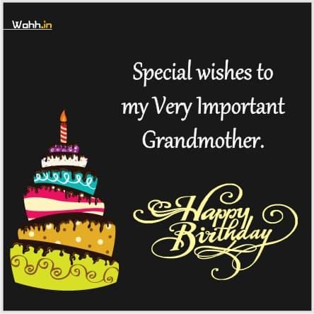 Birthday Srarus For Grandmother