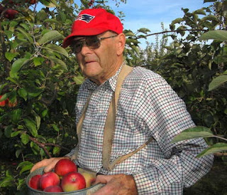farmer picking apples picture