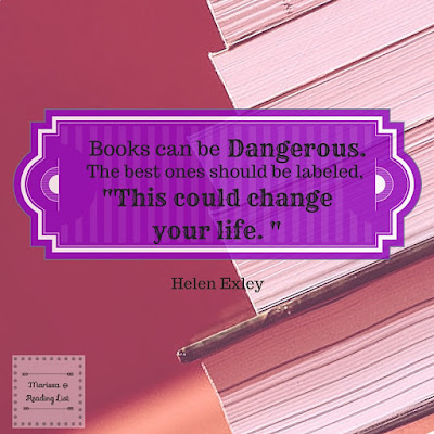Books can be Dangerous... Helen Exley quote  featured on Reading List