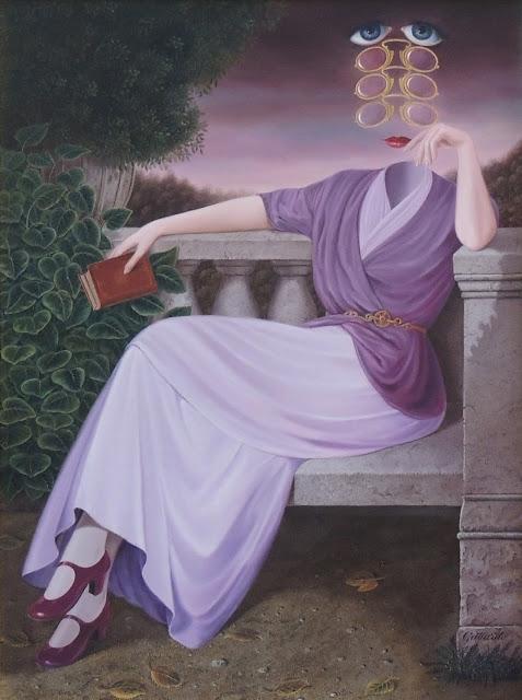 Gervasio Gallardo pintura surrealismo mujer