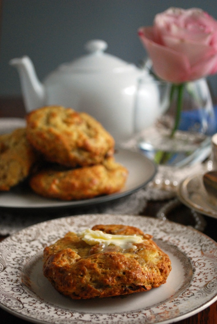 Apple Bacon Cheddar Scone Recipe