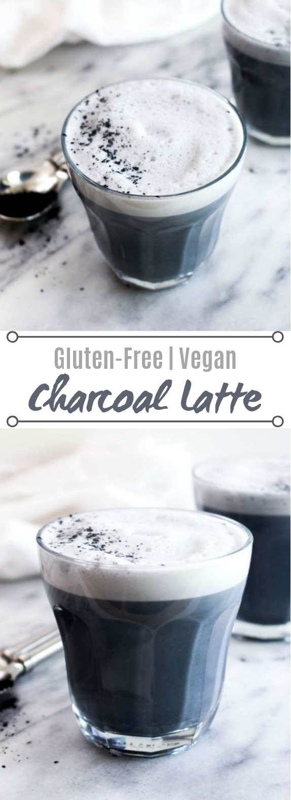 Detox Charcoal Latte #drinks #healthy