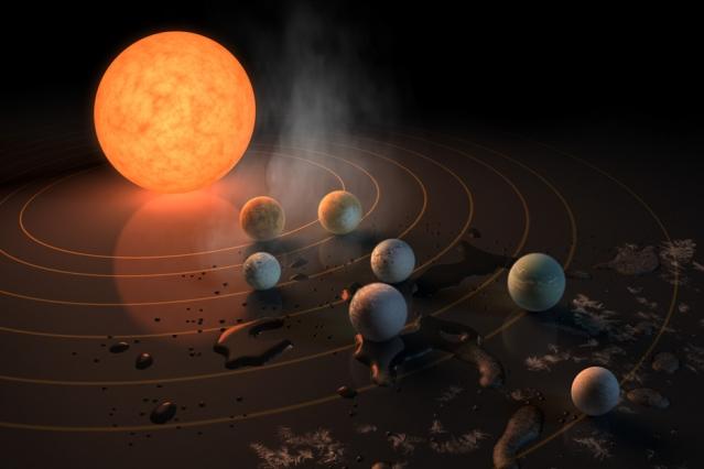 Ζωή σε σύστημα επτά εξωπλανητών ανακοίνωσε η NASA !