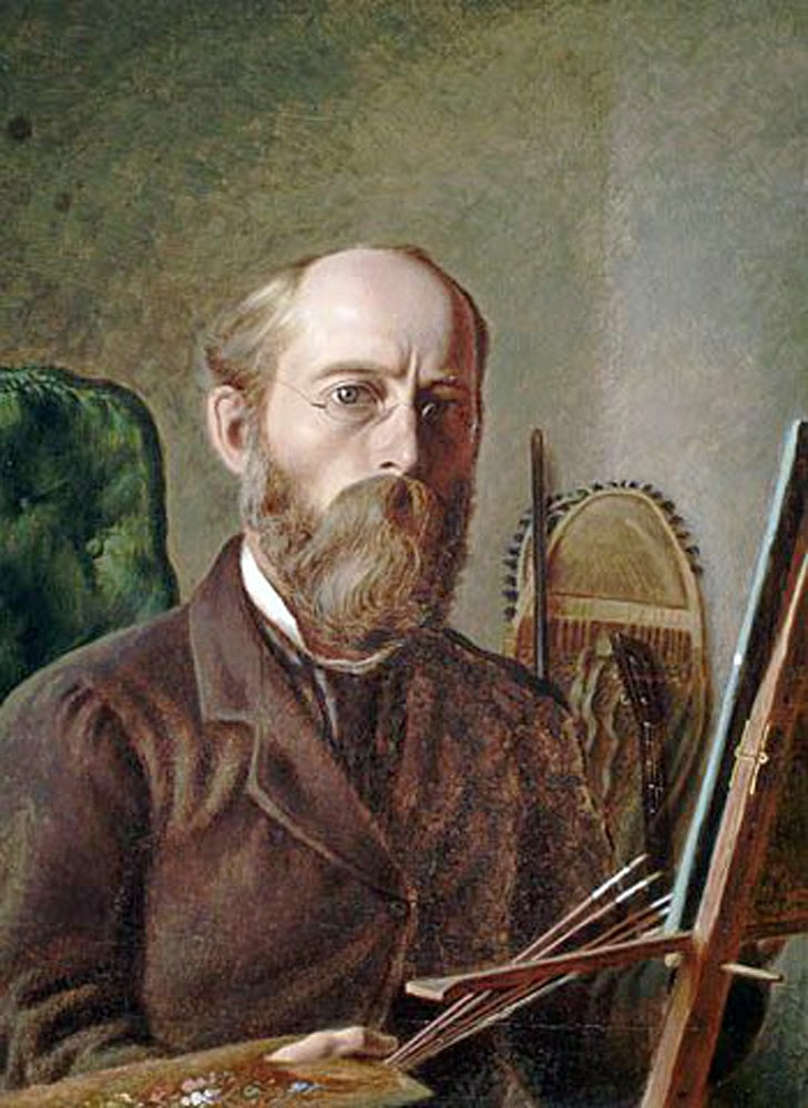 William G.R. Hind, Self Portrait, Portraits of Painters, Fine arts, Portraits of painters blog, Paintings of William G.R. Hind, Painter  William G.R. Hind