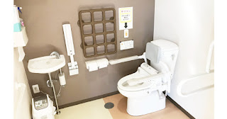 介護施設のトイレの手すり