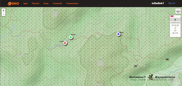 Osmo Group Tracker Map View in Browser - Schadow1 Expeditions