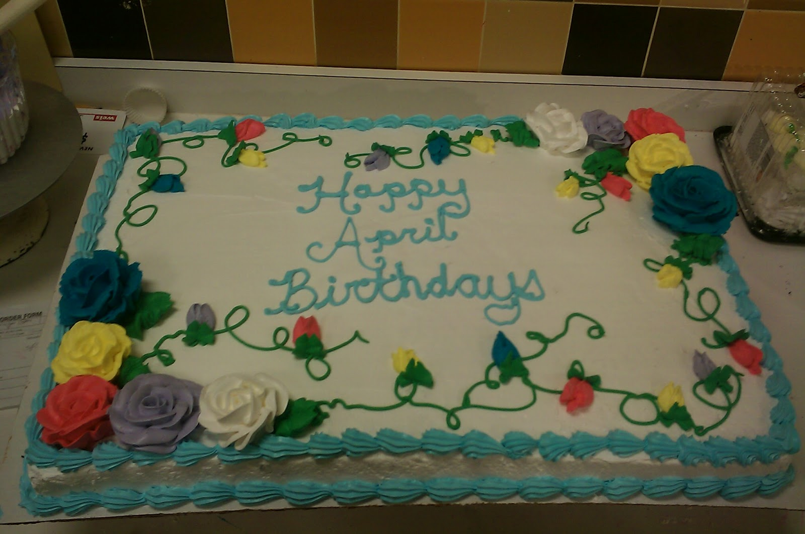 Iced Queen Cakery Group Birthday Cake