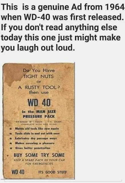 Old 1964 ad for WD 40
