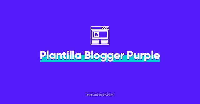 Plantilla Blogger Responsive Gratis purple