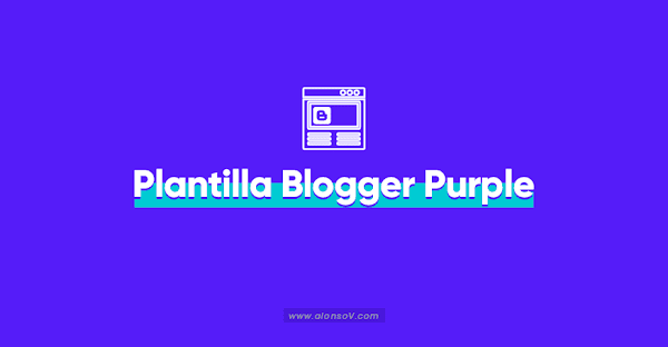 Plantilla Blogger Responsive Gratis 🥇 【 Purple】