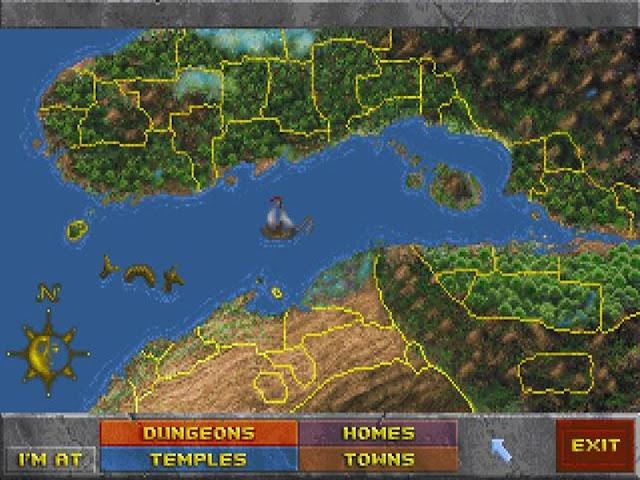 Tamriel - the map of Daggerfall