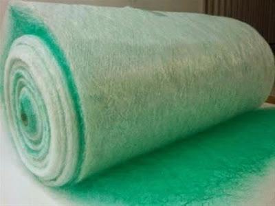 Bông lọc bụi sợi thủy tinh, Lọc sàn buồng sơn, Bông lọc bụi sơn