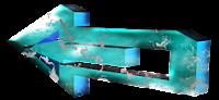 Seta azulada