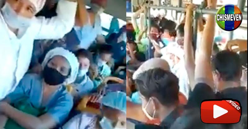 Médicos y enfermeras venezolanas deben transportarse como sardinas en lata