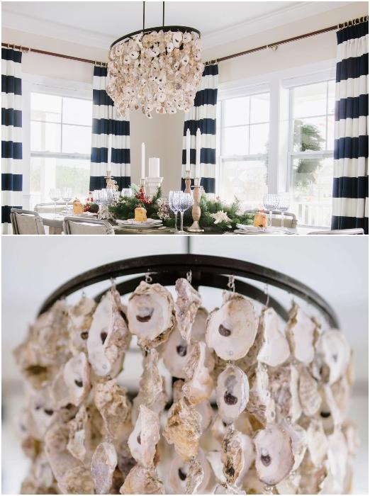 Oyster Seashell Pendant Light