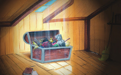 Trunk in the Attic, by Valentina Rota