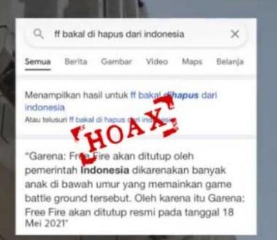 Free Fire Dihapus Dari Indonesia