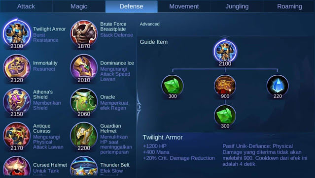 Item Defense Mobile Legend