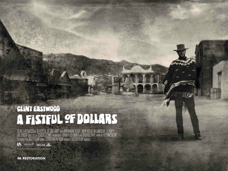 A FISTFUL OF DOLLARS uk poster