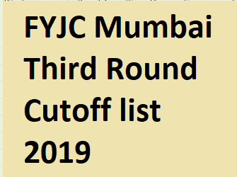 FYJC Mumbai Cut Off list 2019