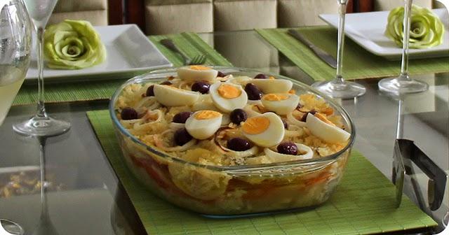 Montando a Mesa : Almoço de Páscoa - Bacalhoada