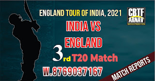 Ind vs Eng 3rd International T20 Today Match Prediction 100% Sure Winner