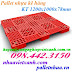 Pallet nhựa kê hàng PL03LS 1200x1000x78mm
