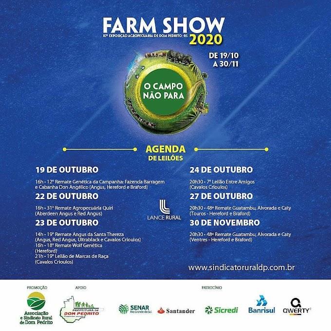 """Farm Show 2020 seguirá regramento """"dos órgãos sanitários e de saúde da Prefeitura"""""""