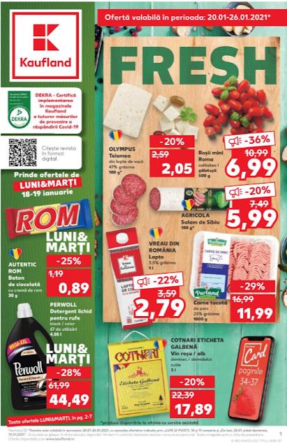 Kaufland Promotii + Catalog-Brosura 20-26.01 2021