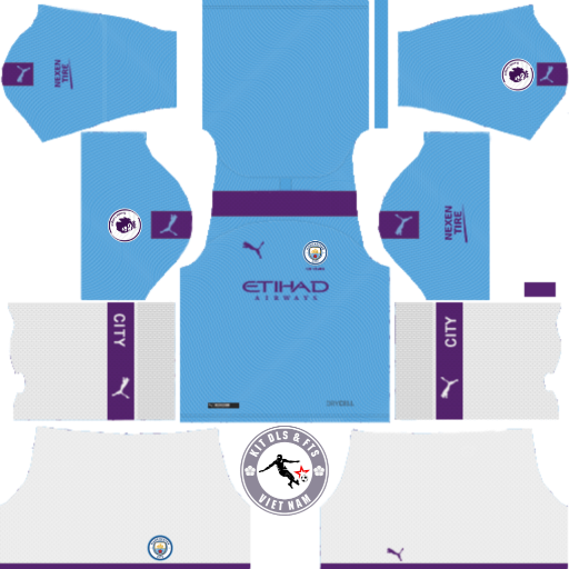 Kits Manchester City 2019 - 2020 Dream League Soccer 2019 & First Touch Soccer