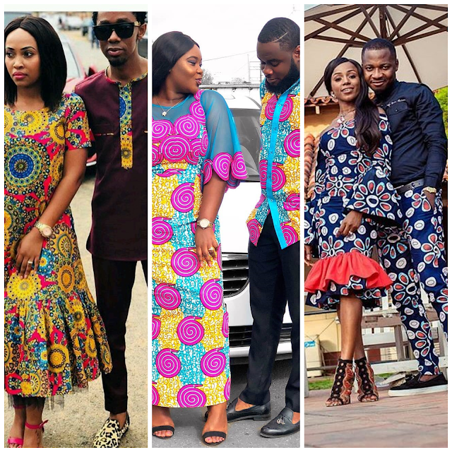 Ankara styles for couples 2018 Latest African Styles