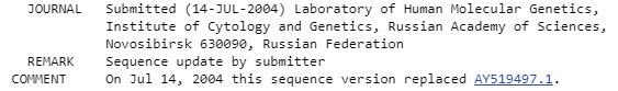 Scientific sample revision in GenBank