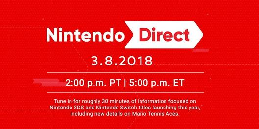 Nintendo Direct March 8 2018 announcement