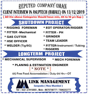 Longterm and Shutdown Project in Oman