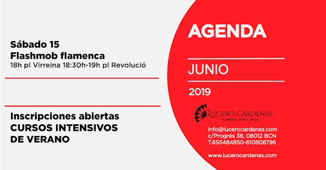 Agenda junio 2019 Escuela de Flamenco Lucero Cardenas