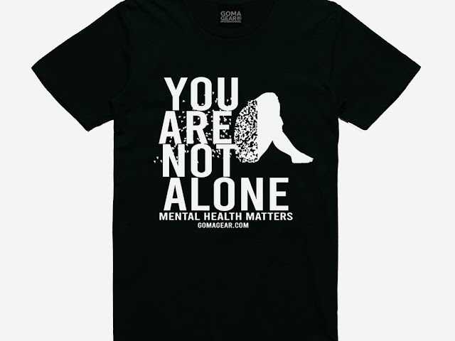 GOMAGEAR YOU ARE NOT ALONE MENTAL HEALTH MATTERS UNISEX TEE