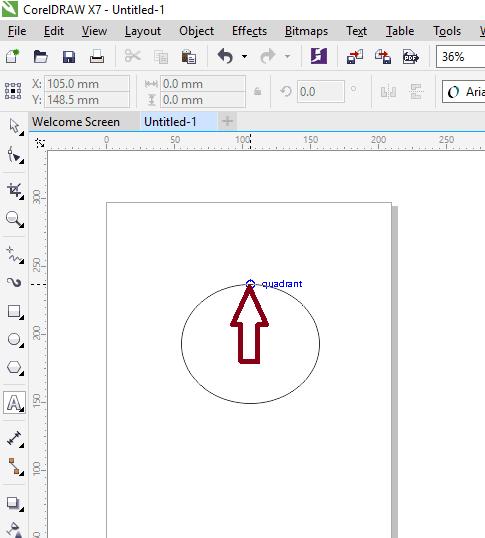 Text tool di garis lingkaran
